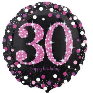 А 18 HB Sparkling Birthday 30 pink S55