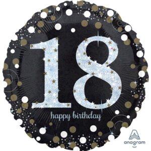 А 18 HB Sparkling Birthday 18 gold S55