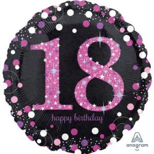 А 18 HB Sparkling Birthday 18 pink S55