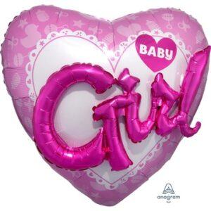 А ДЖАМБО Baby Girl сердце розовое P75 3092101
