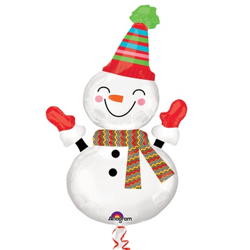 А ФИГУРА/P35 Снеговик улыбчивый