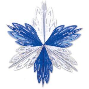 Фигура Снежинка №1 фольг сереб/син 60смG