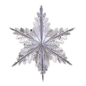 Фигура Снежинка №3 фольг сереб 60см/G