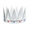 """Корона """"Царь"""" с камнями, цвет серебро 1498586"""