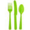 Столовые приборы пласт Kiwi Green 24шт/A