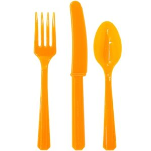 Столовые приборы пласт Orange Peel 24шт/A
