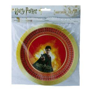 Набор бум тарелок Гарри Поттер 18см 6шт
