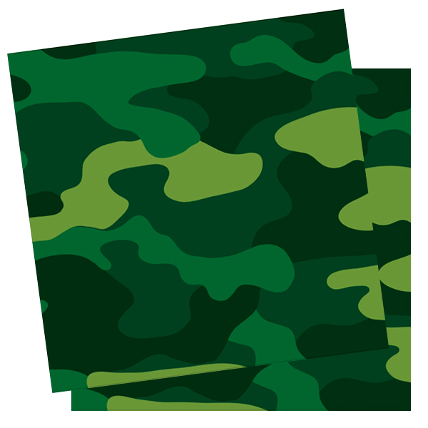Салфетки Милитари 33X33см 12шт/G