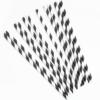 Трубочки для коктейлей Черный / Белый 12шт