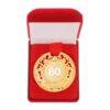 """Медаль царская в бархатной коробке """"С юбилеем 80"""" 2463836"""